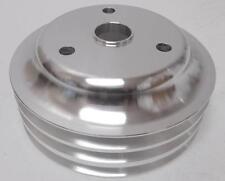 Sbc Sb Chevy Aluminum Crankshaft Pulley 3 Groove Long Water Pump Lwp 350 Crank