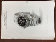 c1a  ephemera advert watch tag heuer kirium automatic chronograph
