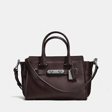 NWT Coach 12111 Swagger Carryall 27 in Glovetanned Leather, Oxblood