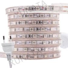 240V 5050 LED Strip Light+AU Adapter Kit RGB White Waterproof Flex Tape Lamp