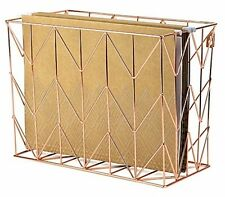Copper Wire Hanging File Basket Home Office Organization Organize Stylish Files