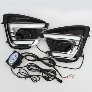 LED daytime running light for Mazda CX-5 CX5 2012 2013-2016 Fog Turn Signal Lamp