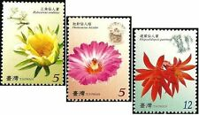 Taiwan Stamp(3805-3807)-2008-特518(978)- Flower Postage Stamps - Cactus-MNH