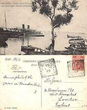 Brindisi - Porto Seno di Levante - Battello Peninsulare RARA 1907 (A-L 506)
