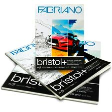 A5 A4 or A3 Fabriano Bristol Paper Pad 250gsm Art Ink Watercolour Gouache Paints