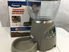 Petmate programmable Pet Food Dispenser Portion right 5 Lb dry food Gray