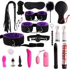 Adult Fun 20PCS/Set Leather Suit Bundled Binding Sex Games Toys For Couple Kits