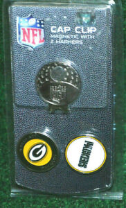 New Green Bay Packers Team NFL Golf Magnetic Cap Clip and Ball Marker Set