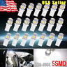 20X 6000K Xenon White T10 921 Interior/License Plate Dome SMD Light Bulbs 5-LED
