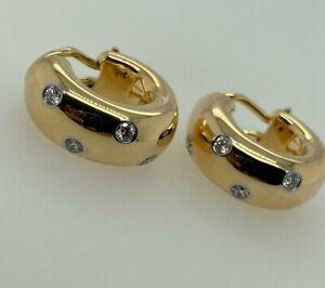 Tiffany & Co. 18ct Yellow Gold and Diamond Etoile Hoop Earrings