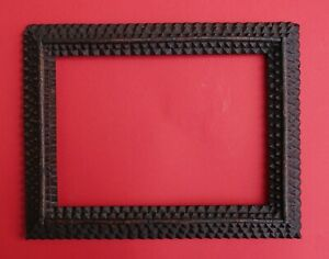 TRAMP ART PICTURE FRAME - 19th century (# 14142)