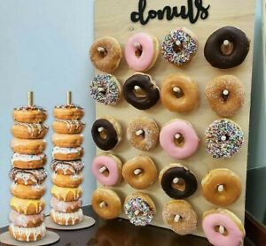 Party Decoration Wooden Donut Wall Stand Baby Shower Kid Birthday Decor Wedding