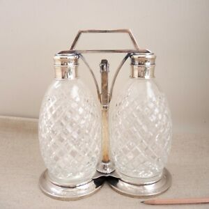 Tiffany Sterling Silver Tantalus Decanter Liquor Bottle Hollywood PROVENANCE Vtg