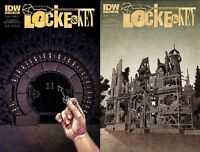 LOCKE & KEY ALPHA #1 2 1st print A set IDW COMIC JOE HILL GABRIEL RODRIGUEZ NM