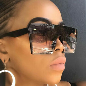 Oversized Sunglasses Ladies Women's Large Frame Vintage Retro UV400 Designer UK