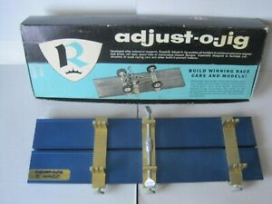 Vintage Russkit Adjust-O-Jig Slot Car Chassis Builder W/Box Instruction Sheet