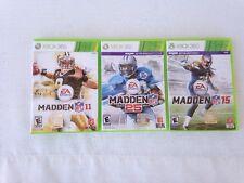 Madden 11 Xbox 360, Madden 25 Xbox 360, Madden 15 Xbox 360