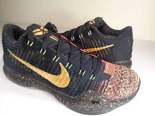 Nike Kobe 10 X Elite Low Christmas 5 Rings Gold Black Red SZ 8.5 (802560-076)
