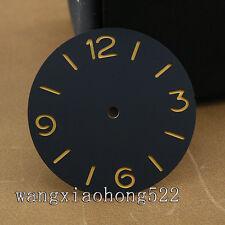 38.9mm schwarz Sandwich sterile Ziffern Orange ETA 6497 6498 Herrenuhr Leucht 03