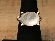 Michael Dawkins Sterling & White Mother-of-Pearl Ring Sz 5