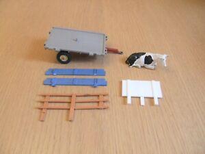 Vintage Britains farm animal transporter trailer *incomplete, spares or repairs*