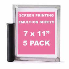 "Emulsion Sheets - 5 Pack - 7""x11"" DIY Yudu Style Screen Printing - 30 Microns"