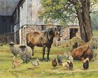 Bonnie Mohr Barnyard Signed Open Edition on Paper