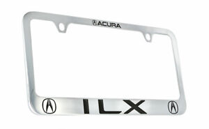 Acura ILX Wordmark Chrome plated Brass Metal License Plate Frame Holder 2 Hole