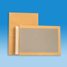 50 Versandtaschen B4 mit Papprückwand - Haftklebung -Kartonrückwand- Farbe braun