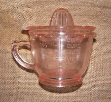 Measuring Cup Juicer Pink Reproduction Depression Glass Lemon Lime Reamer #505P