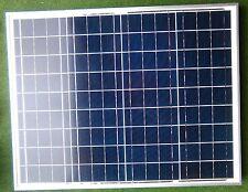 Panel Solar De 50 vatios PV + Cable 5M regulador Barco Caravana Camper Van & cobertizo 50W