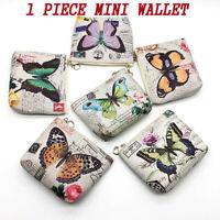 Cute Butterfly Coin Purse Zip Change Purse Mini Wallet Key Card Bag-