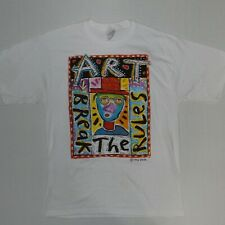 Fred Babb Break the Rules Art T-Shirt Vintage Reprint sz L--STAINED