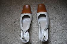 NEW Cream/Tan JANE SHILTON Sling-back Shoes UK 7/ EU 40