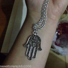 collana mano di fatima fatta a mano  in argento indiano ciondolo charm collanina