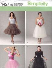 From UK Sewing Pattern Tulle Skirt 1950's style underskirt overskirt 4-12  #1427