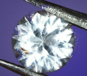 Natural Brazilian White Topaz round gem. Not treated 3 mm