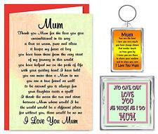 Mum Verse Gift Set - Card, Keyring & Magnet - Birthday Special Keepsake Present