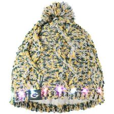 Green Bay Packers Chunky Knit Light Up Logo Beanie Winter Hat Toque Pom Women's