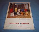 Nebraska Huskers vs Kansas State Game Program Magazine 1966