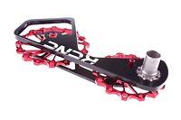 KCNC Chape Galets Oversize Vélo Course OPWS pour Shimano Dura Ace/Ultegra Rouge
