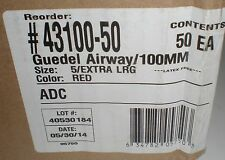 ADC GUEDEL AIRWAY EXTRA LARGE 100MM SIZE 5 50/CS 43100-50 AMERICAN DIAGNOSTIC