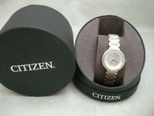 SALE:Authentic Citizen Eco Drive Silhouette Crystal MOP Dial Gold Women's Watch