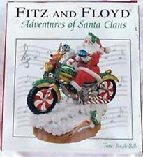 Fitz and Floyd Musical Santa on Motorcycle Adventures of Santa Jingle Bells