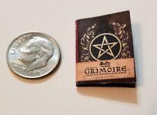 """Miniature dollhouse Halloween book  1/12 Scale   1"""" Grimiore Buffy Pentagram"""