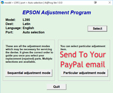 Reset Epson L395 L495 100% Epson L395 L495 Adjustment Program