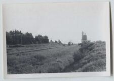 1967  Near Trois Pistoles  Quebec Railway Railroad CNR #11 engine vintage photo