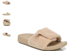 Vionic Keira Ginger Root Faux Fur Slide Slipper Sandal Women's sizes 5-12 NEW!!!
