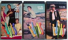 Lot Of 3 Vhs Videotapes, Elvis, Love Me Tender + Tickle Me + Girls! Girls! Girls