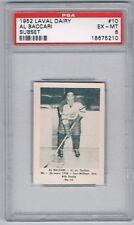 1952 Laval Dairy Subset Hockey Card Quebec Aces #10 Al Baccari Graded PSA 6